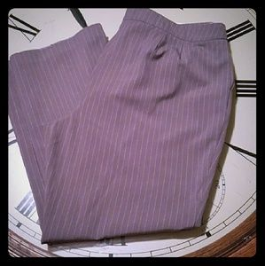 Jessica London Trousers Gry/Wht Pinstripes Sz 20